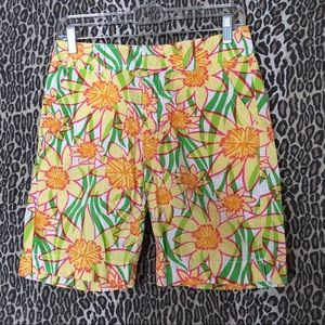 Lilly Pulitzer Floral Resort Fit Bermuda Shorts 0
